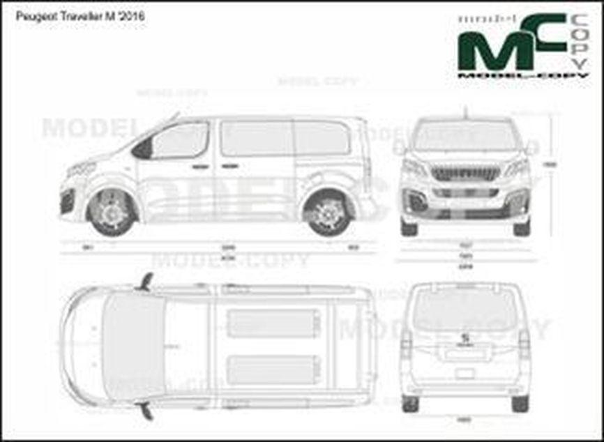 Peugeot Traveller M '2016 - 2D drawing (blueprints)