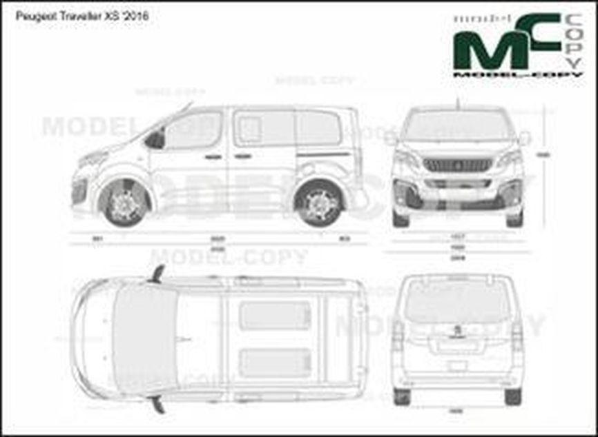 Peugeot Traveller XS '2016 - 2D drawing (blueprints)