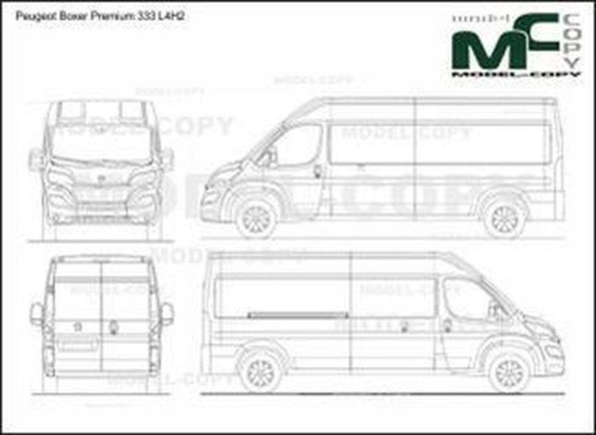 Peugeot Boxer Premium 333 L4H2 - 2D drawing (blueprints)