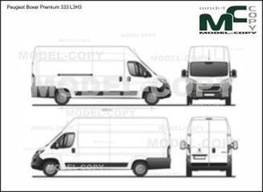 Peugeot Boxer Premium 333 L3H3 - 2D drawing (blueprints)
