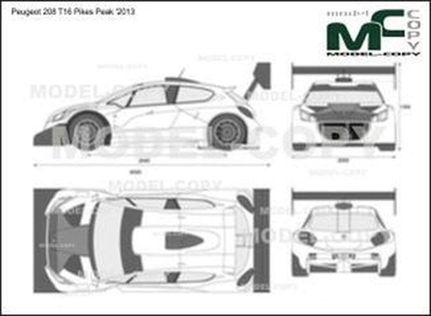 Peugeot 208 T16 Pikes Peak '2013 - 2D drawing (blueprints)