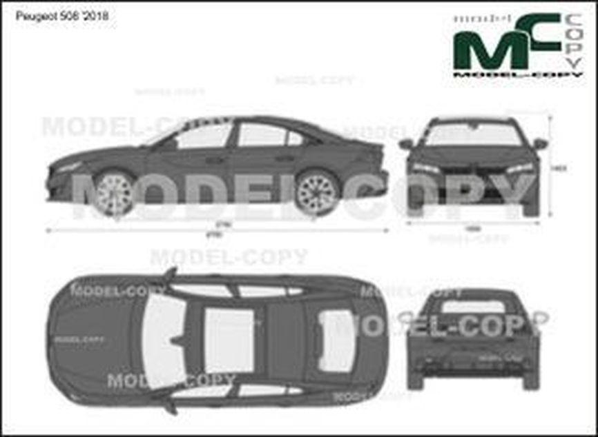 Peugeot 508 '2018 - 2D drawing (blueprints)