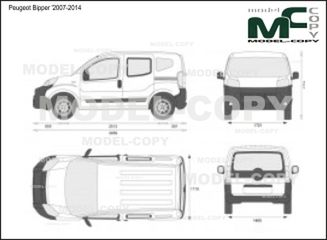 Peugeot Bipper '2007-2014 - 2D drawing (blueprints)