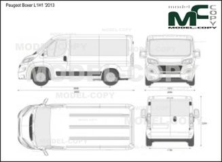 Peugeot Boxer L1H1 '2013 - 2D drawing (blueprints)