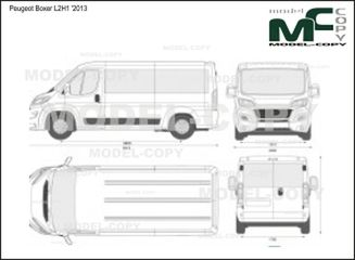 Peugeot Boxer L2H1 '2013 - 2D drawing (blueprints)