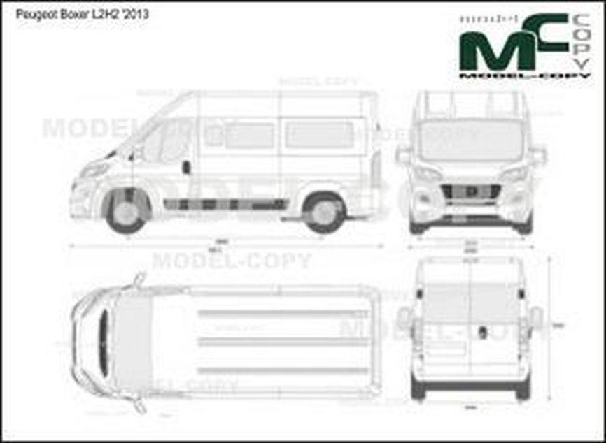 Peugeot Boxer L2H2 '2013 - 2D drawing (blueprints)