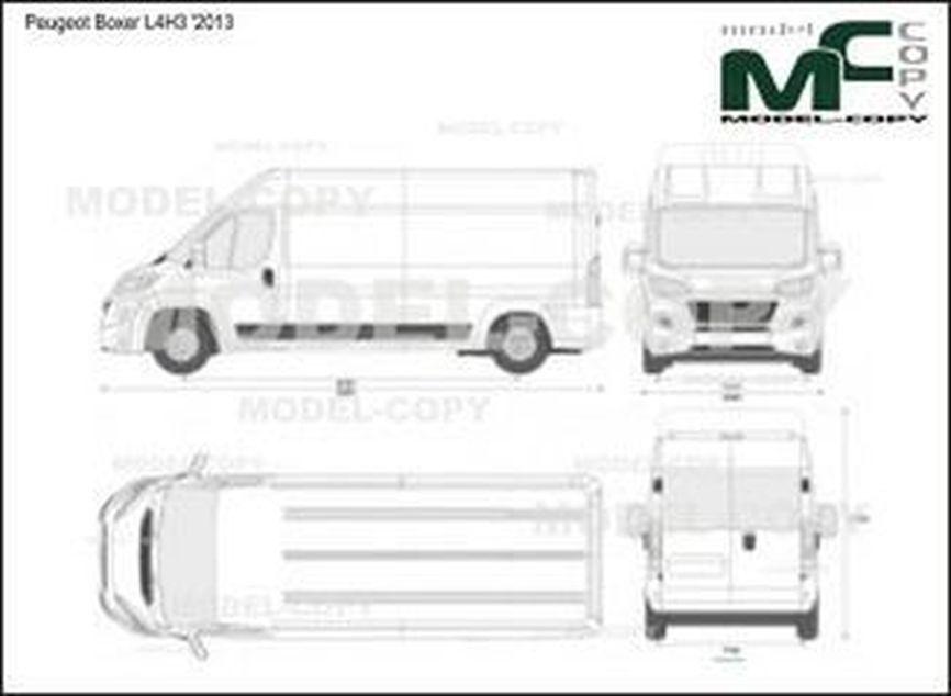 Peugeot Boxer L4H3 '2013 - 2D-чертеж