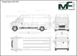 Peugeot Boxer L5H2 '2013 - 2D drawing (blueprints)