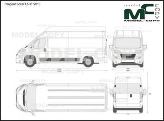 Peugeot Boxer L5H3 '2013 - 2D drawing (blueprints)