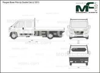 Peugeot Boxer Pick-Up Double Cab L2 '2013 - 2D図面