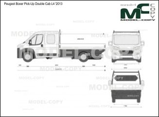 Peugeot Boxer Pick-Up Double Cab L4 '2013 - 2D-чертеж