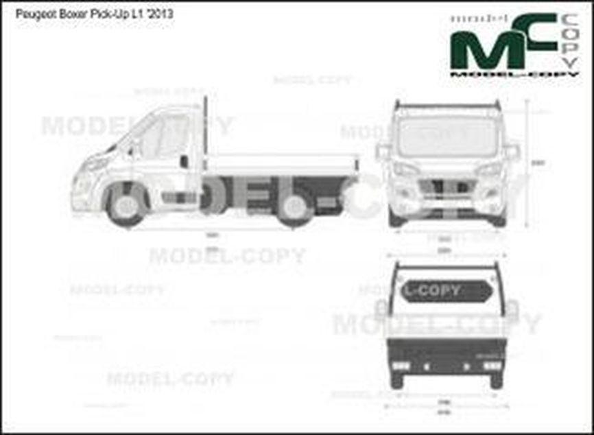 Peugeot Boxer Pick-Up L1 '2013 - 2D-чертеж