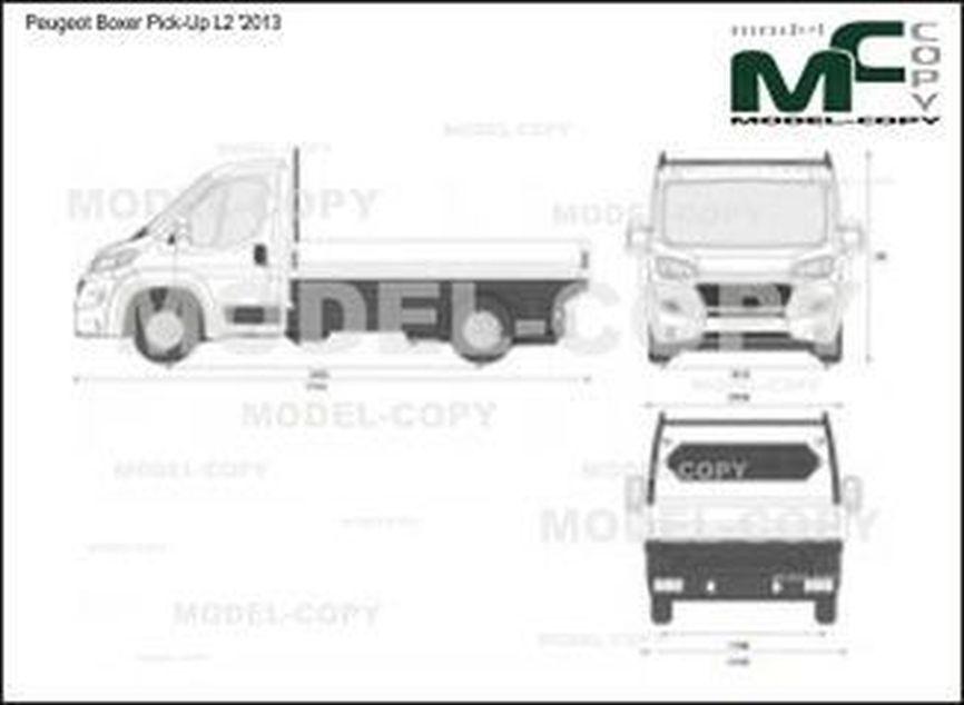 Peugeot Boxer Pick-Up L2 '2013 - 2D図面