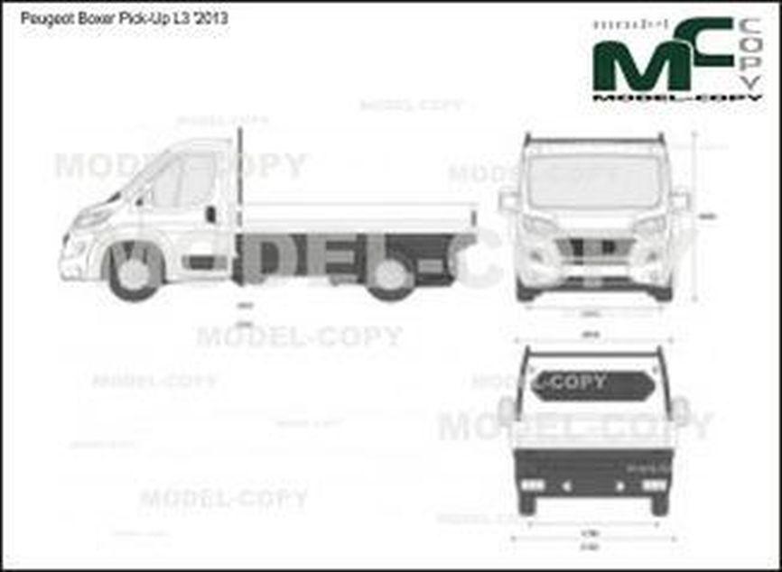 Peugeot Boxer Pick-Up L3 '2013 - 2D-чертеж