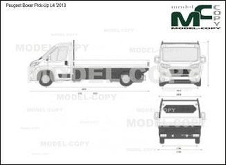 Peugeot Boxer Pick-Up L4 '2013 - 2D-чертеж