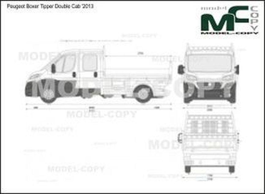 Peugeot Boxer Tipper Double Cab '2013 - 2D図面