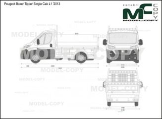 Peugeot Boxer Tipper Single Cab L1 '2013 - 2D-чертеж