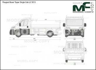 Peugeot Boxer Tipper Single Cab L2 '2013 - 2D drawing (blueprints)