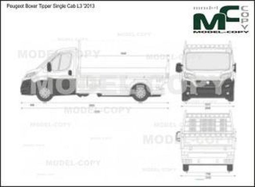 Peugeot Boxer Tipper Single Cab L3 '2013 - 2D drawing (blueprints)