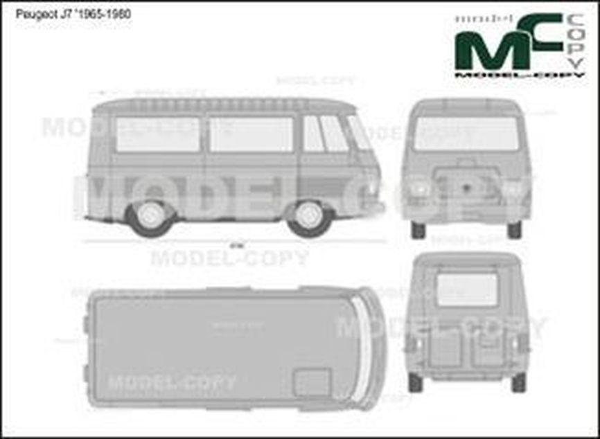 Peugeot J7 '1965-1980 - 2D drawing (blueprints)