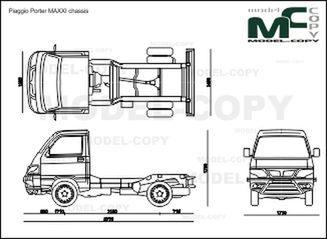 Piaggio Porter MAXXI chassis '2011 - 2D drawing (blueprints)