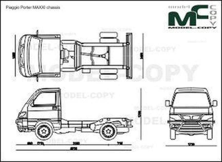 Piaggio Porter MAXXI chassis '2011 - 2D図面
