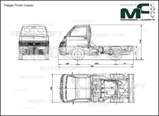 Piaggio Porter chassis '2011 - 2D drawing (blueprints)