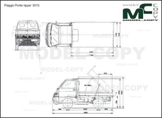 Piaggio Porter tipper '2011 - 2D drawing (blueprints)