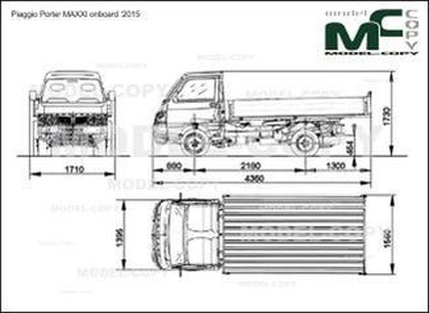 Piaggio Porter MAXXI onboard '2011 - 2D図面