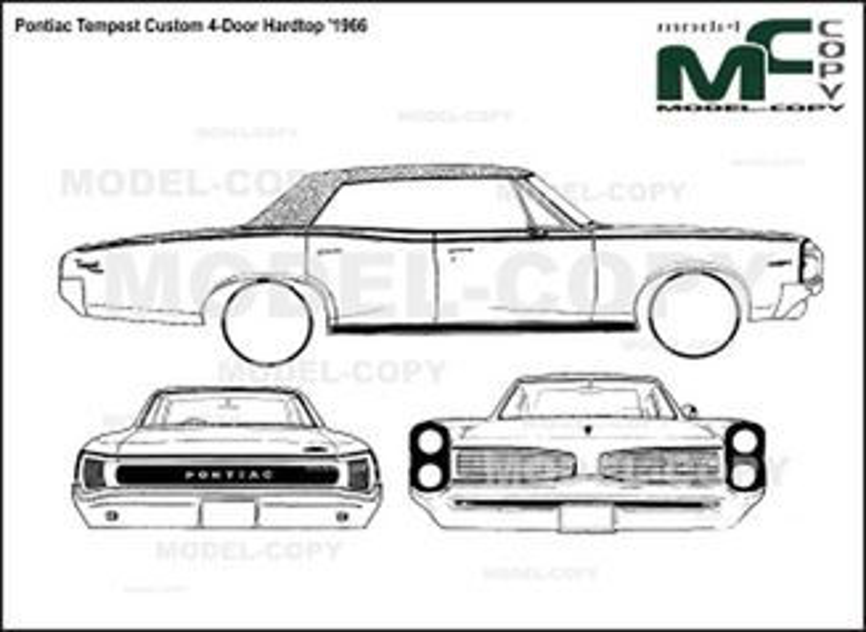 Pontiac Tempest Custom 4-Door Hardtop '1966 - drawing