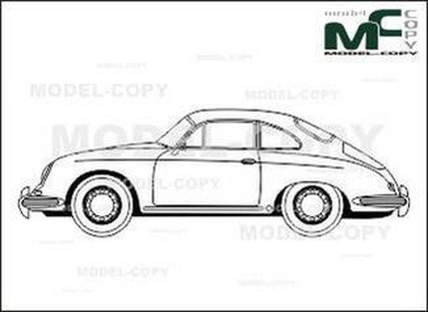 Porsche 356 b coupe dessin 26328 model copy - Dessin de porsche ...