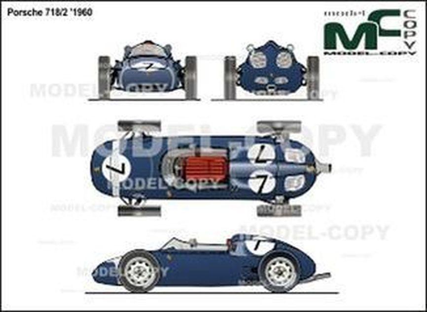 Porsche 718/2 '1960 - 2D drawing (blueprints)