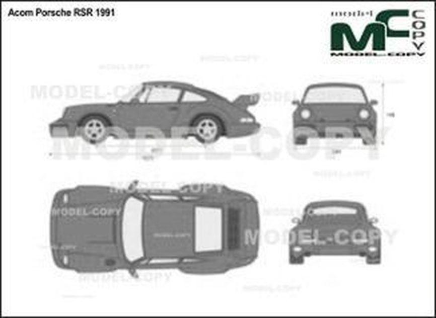 Acom Porsche RSR '1991 - 2D drawing (blueprints)
