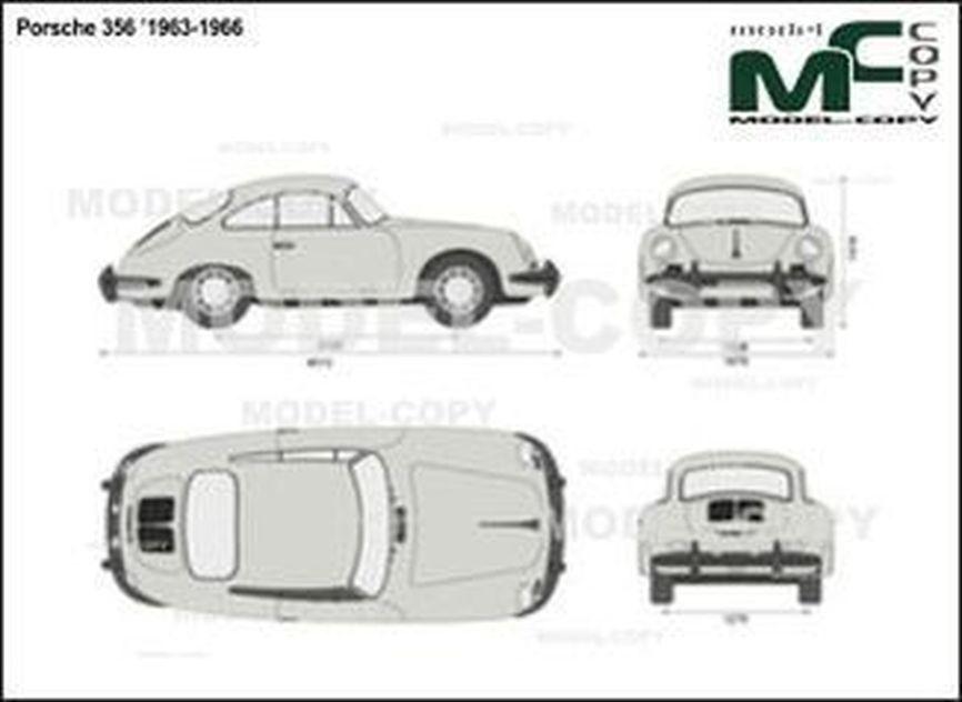 Porsche 356 '1963-1966 - 2D drawing (blueprints)