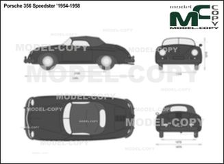 Porsche 356 Speedster '1954-1958 - 2D drawing (blueprints)
