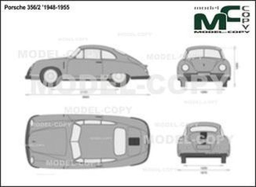 Porsche 356/2 '1948-1955 - 2D drawing (blueprints)