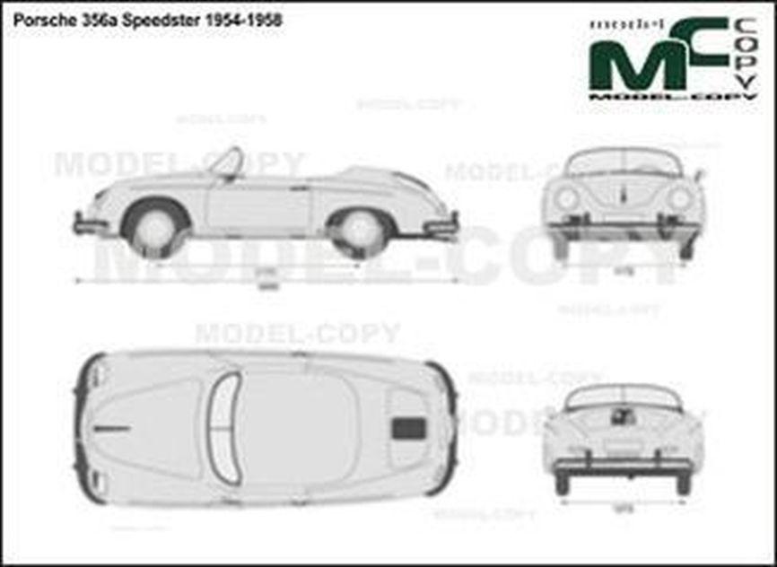 Porsche 356a Speedster 1954-1958 - 2D drawing (blueprints)