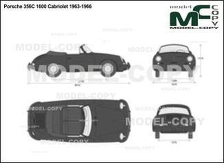 Porsche 356C 1600 Cabriolet 1963-1966 - 2D drawing (blueprints)