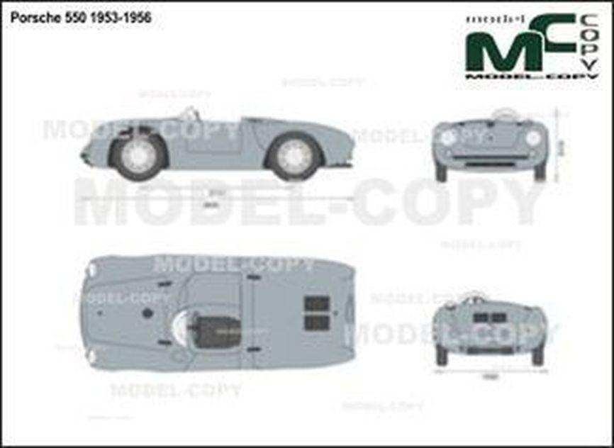 Porsche 550 1953-1956 - 2D drawing (blueprints)