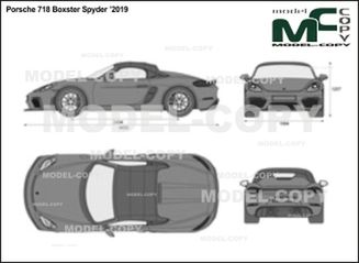 Porsche 718 Boxster Spyder '2019 - 2D drawing (blueprints)