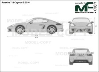 Porsche 718 Cayman S 2016 - 2D drawing (blueprints)
