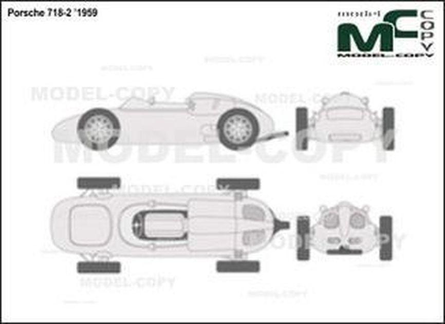 Porsche 718-2 '1959 - 2D drawing (blueprints)