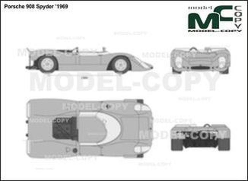 Porsche 908 Spyder '1969 - 2D drawing (blueprints)