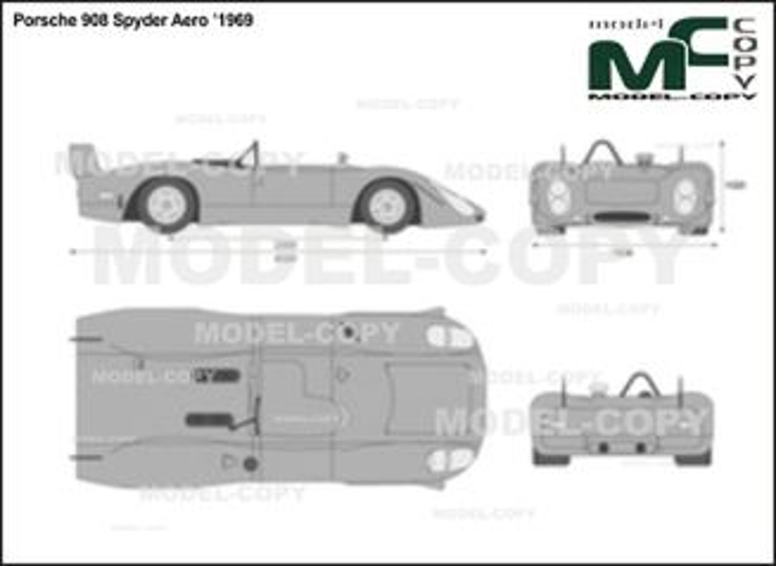 Porsche 908 Spyder Aero '1969 - Bản vẽ 2D