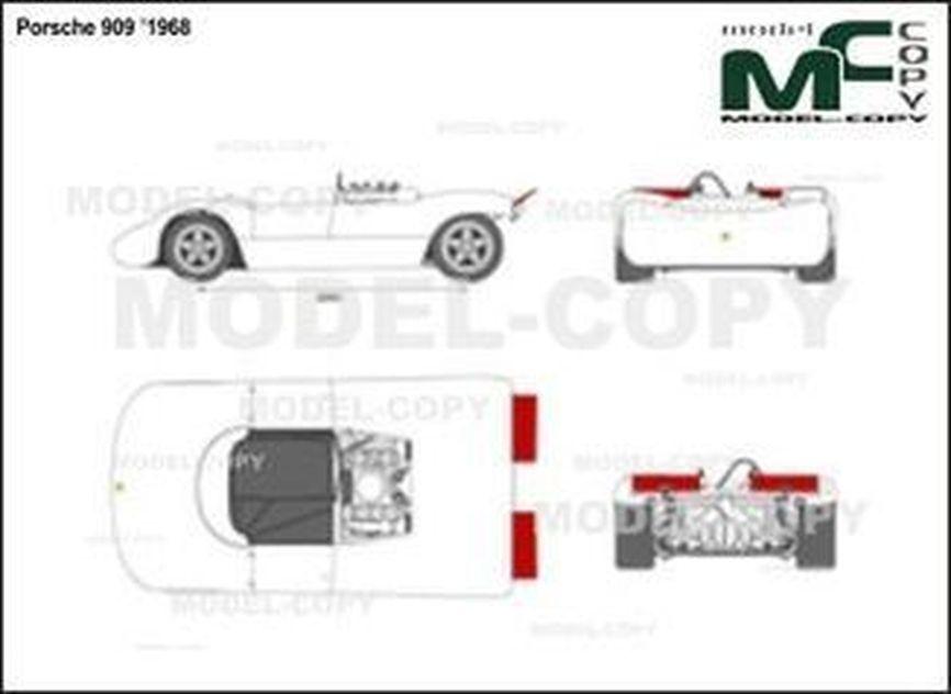 Porsche 909 '1968 - 2D drawing (blueprints)