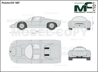 Porsche 910 '1967 - 2D drawing (blueprints)