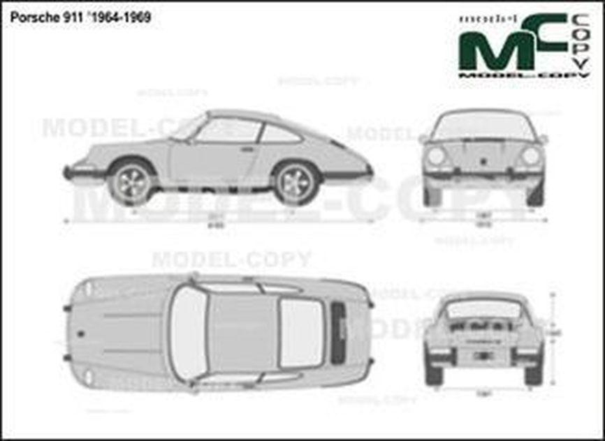 Porsche 911 '1964-1969 - 2D drawing (blueprints)
