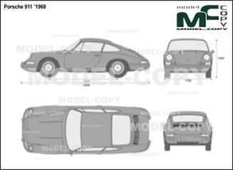 Porsche 911 '1968 - 2D drawing (blueprints)