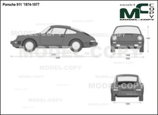 Porsche 911 '1974-1977 - 2D drawing (blueprints)