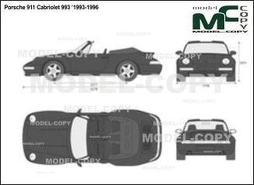 Porsche 911 Cabriolet 993 '1993-1996 - 2D drawing (blueprints)
